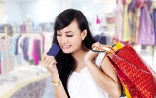 Einkaufen per Kreditkarte